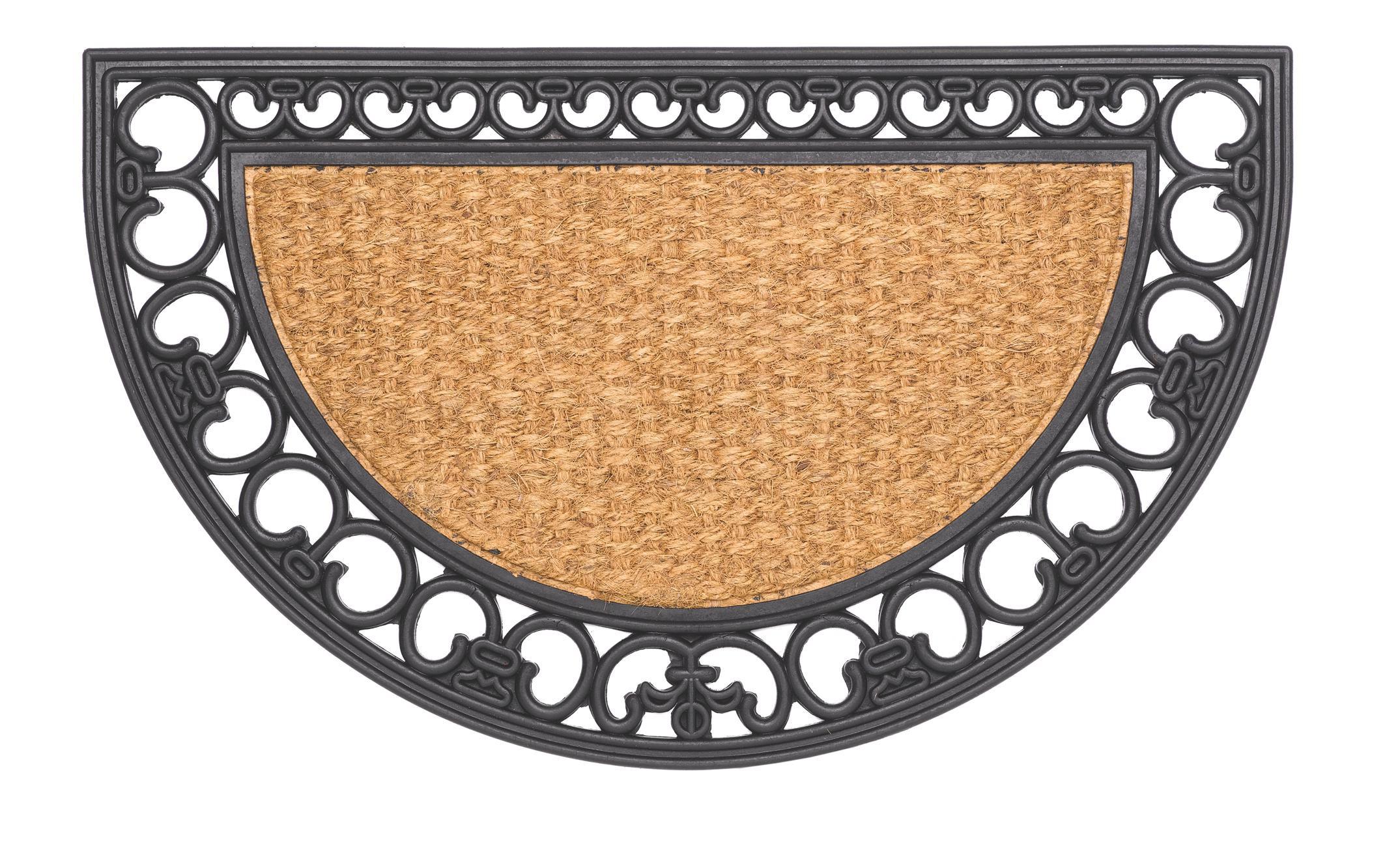 Hamat Fußmatte / Kokos Fußmatte Gazelle 45x75cm halbrund Bild 1