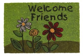 Hamat Fußmatte / Kokos Fußmatte Ruco Print 40x60cm Welcome Friends Bild 1