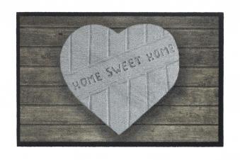 Hamat Schmutzfangmatte Mondial 45x75cm Dekor 003 Heart Home Sweet Home Bild 1