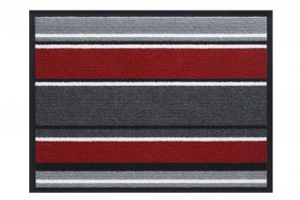 Hamat Schmutzfangmatte Streifen Smart 60x80cm red Bild 1