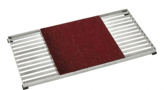 Schuhabtreter Set Cubic Matte mittig Plus 40x80x3,5cm Kokosmatte rot Bild 1