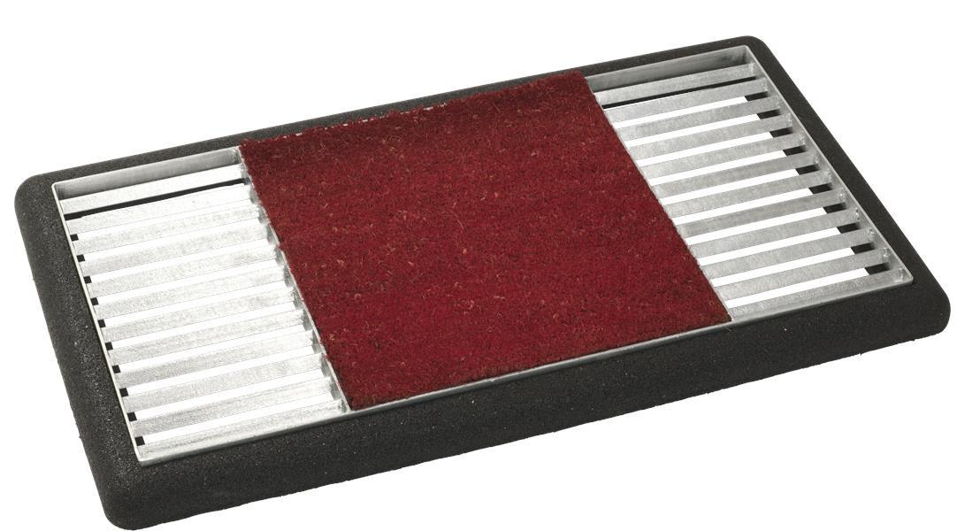 Schuhabtreter Set Cubic Matte mittig Plus 48x88x4cm Kokosmatte rot Bild 1