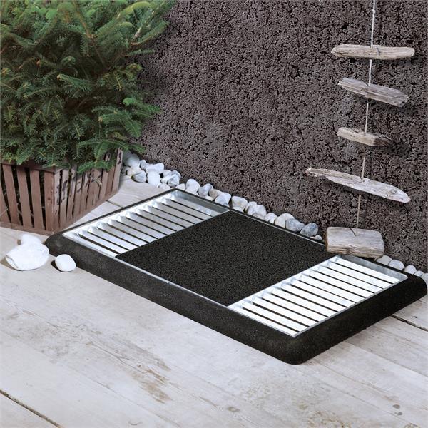 Schuhabtreter Set Cubic Matte mittig Plus 48x88x4cm Kunststoff schwarz Bild 2