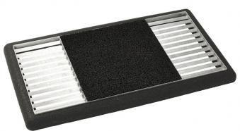 Schuhabtreter Set Cubic Matte mittig Plus 48x88x4cm Kunststoff schwarz Bild 1