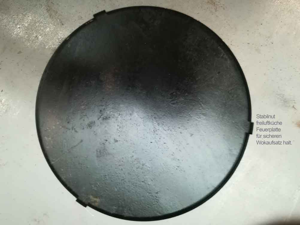 Feuerplatte Grill Plancha Grillplatte für Feuertonne und Kugelgrill 80 Bild 2