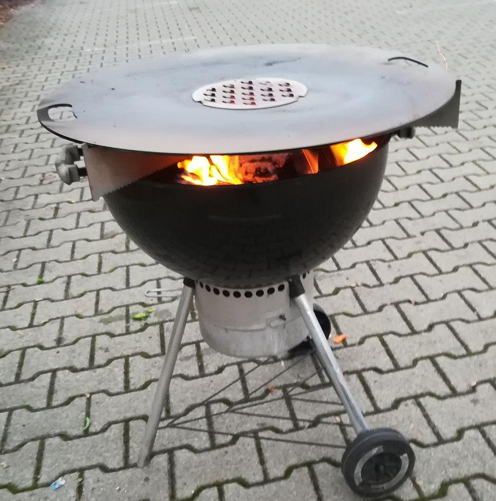 Feuerplatte Grill Plancha Grillplatte für Feuertonne und Kugelgrill 80 Bild 5