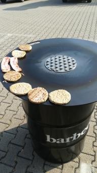 Feuerplatte mit Fass Grillplatte / Plancha / BBQ Bild 4