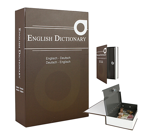 "Holthoff Geldversteck ""Buch English Dictionary"" 23,5x15,5x5,5cm braun Bild 1"