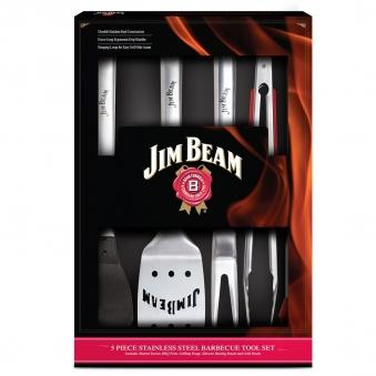 Jim Beam Grillbesteck Grillset Geschenkbox Edelstahl 5-teilig Bild 1