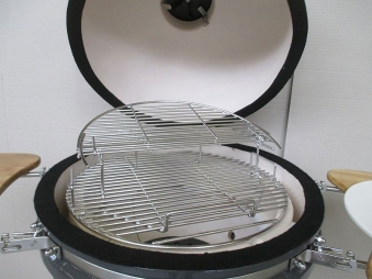 "Kamado-Kitchen Keramikgrill de Luxe 18,8"" Ø48cm schwarz Set Bild 3"