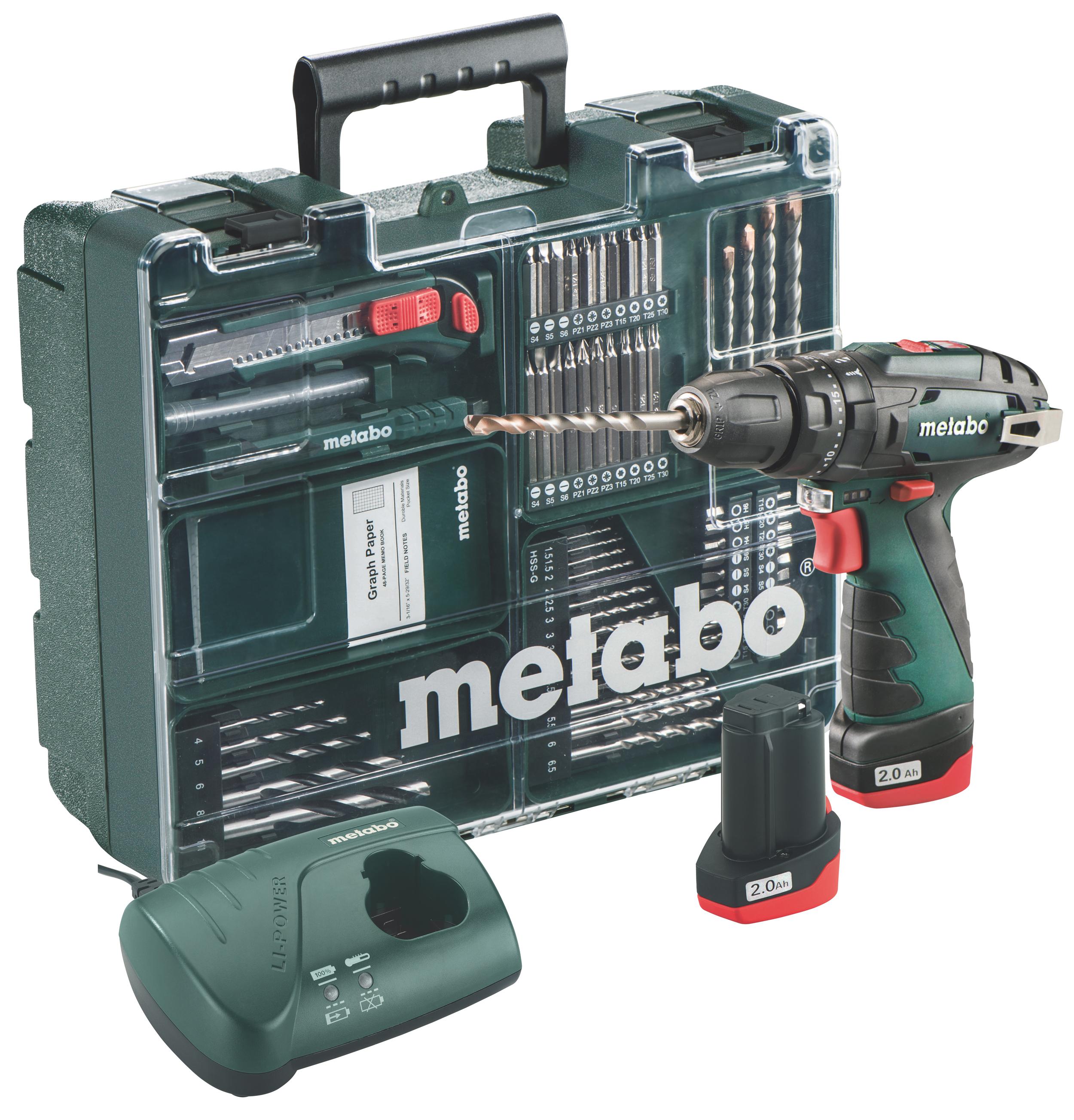 Metabo Akku Schlagbohrmaschine PowerMaxx SB 10,8V / 2Ah Set Aktion Bild 1