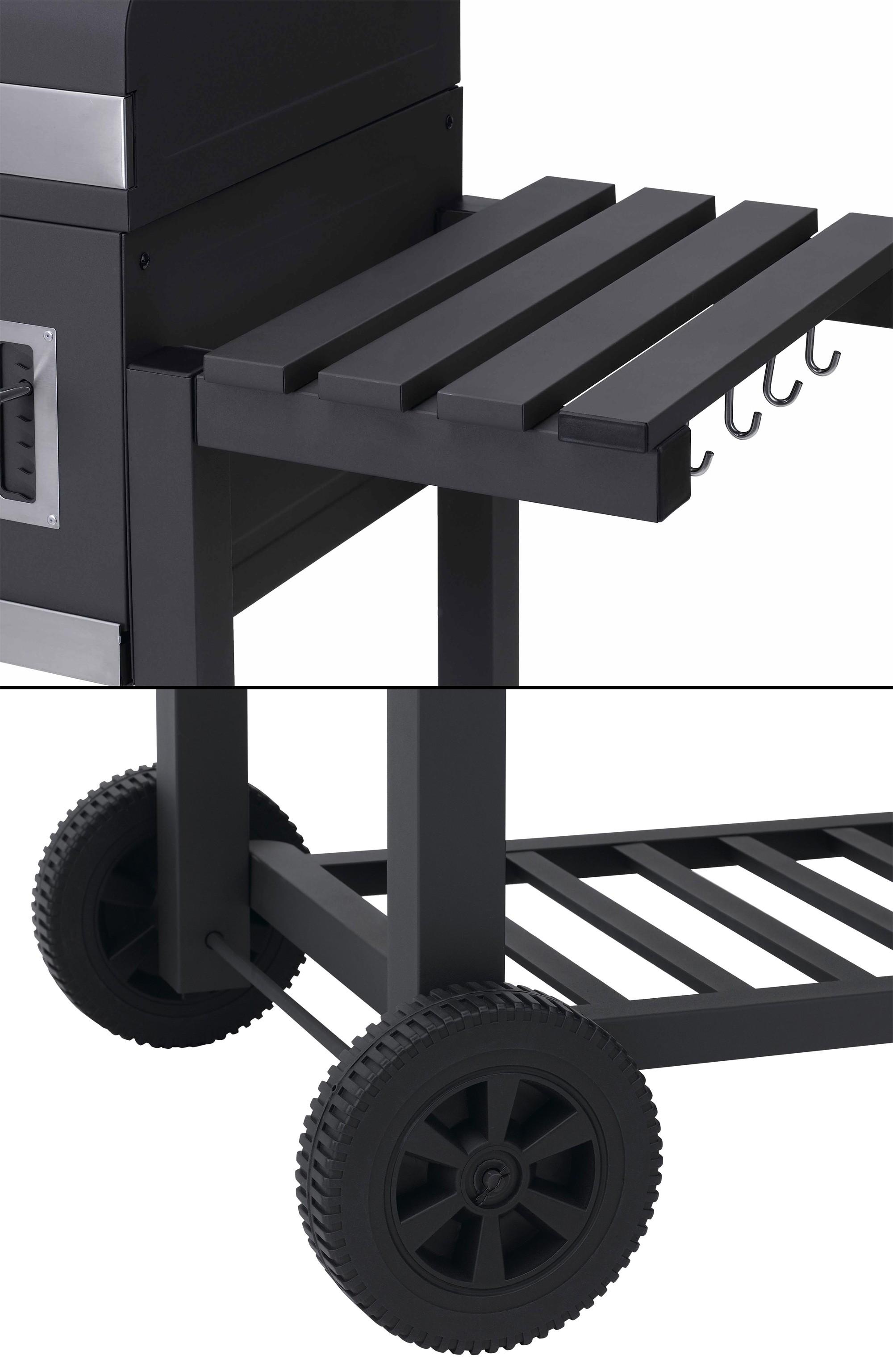 Tepro Holkohlegrill / Grillwagen Toronto XXL Grillfläche 71x46cm Bild 4