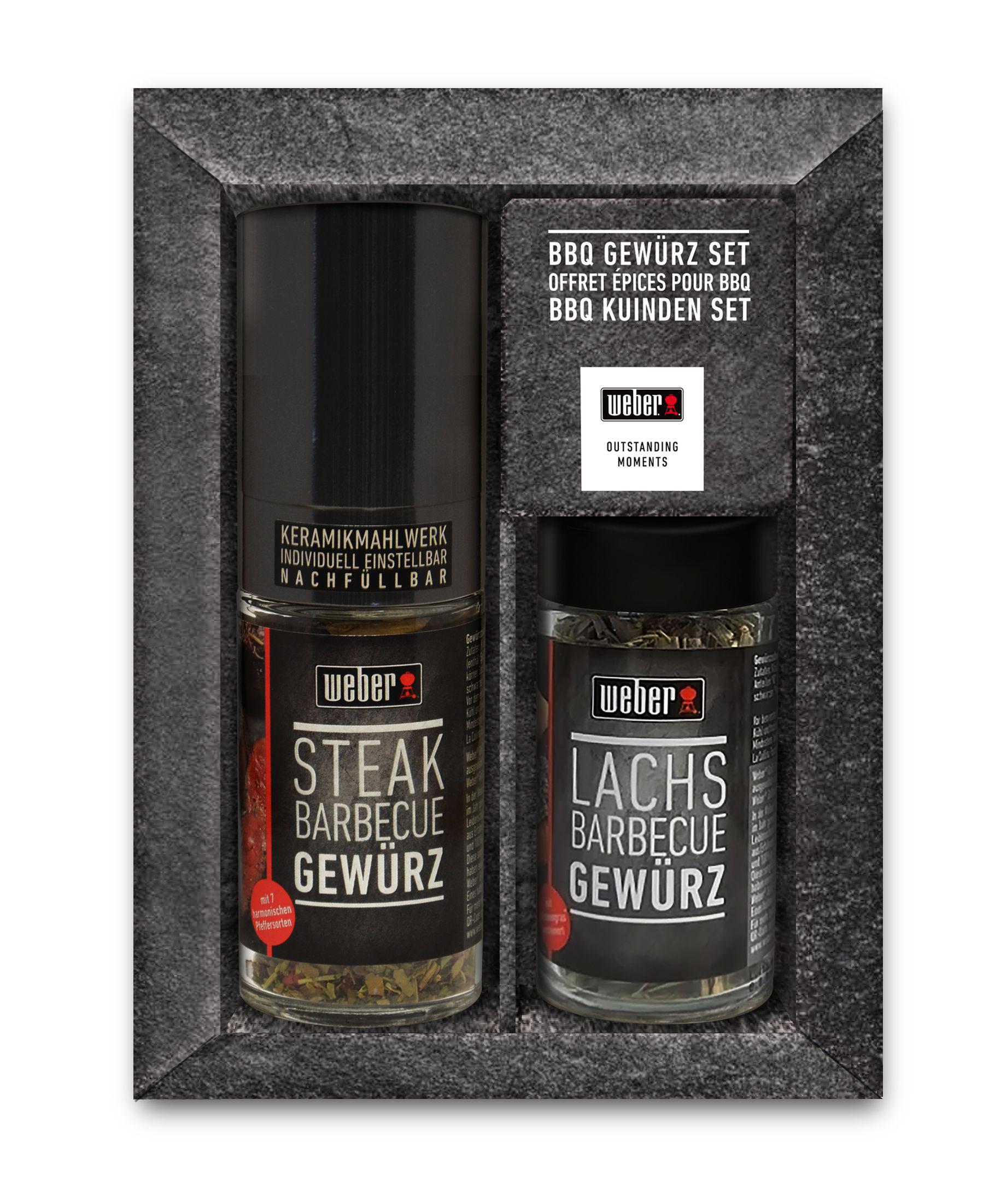 Weber BBQ Gewürz Set / Geschenk Set 2-teilig Steak / Lachs Bild 1