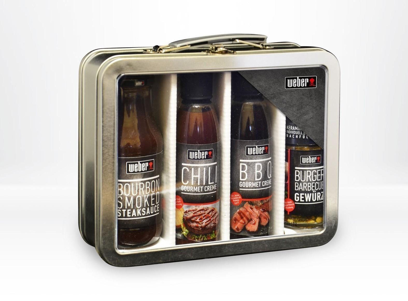 Weber Geschenkkoffer BBQ Gewürz und 3 Grillsaucen Bild 1
