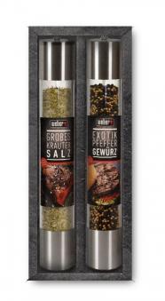 Weber Gewürz Set / Geschenk Set KingSize Gewürzmühlen Salz / Pfeffer Bild 1
