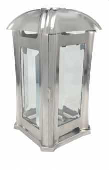 Grableuchte / Grablaterne / Grablampe Edelstahl matt Höhe 24 cm Bild 1