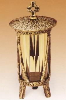 Grablampe 27 cm mit Deckelkreuz Bild 1
