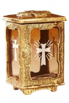 Grablampe Andreas mit Laser-Ornamente 22 cm Bild 1