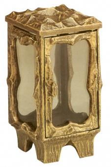 Grableuchte / Grablaterne 21 cm mit Parsol Bronze Glas Bild 1