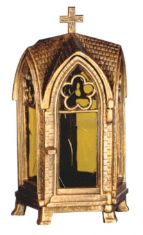 Grableuchte / Grablaterne 30 cm Kapelle Bild 1