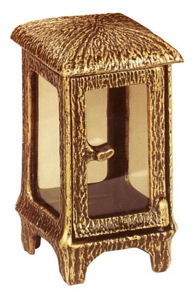 Grableuchte / Grablaterne Magdalena 22 cm mit Parsol Bronze Glas Bild 1