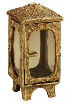 Grableuchte / Grablaterne Noah 22 cm mit Parsol Bronze Glas Bild 1