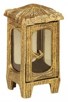 Grableuchte / Grablaterne Raphael 22 cm mit Parsol Bronze Glas Bild 1