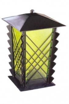 Grablampe / Grablaterne Stahl 21 cm Echtglaseinsatz Bild 1