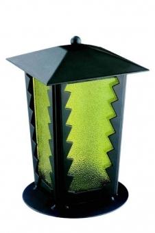 Grablaterne / Grablampe Johannes Stahl 21 cm Echtglaseinsatz Bild 1