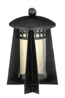 Grablaterne / Grablampe Stahl 23 cm Echtglaseinsatz Bild 1