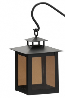 Grablaterne / Grablampe Stahl mit Stab Echtglaseinsatz Bild 1