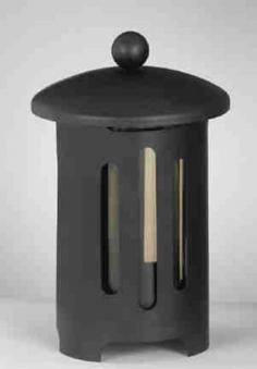 Grableuchte / Grablaterne Stahl Echtglaseinsatz 21cm # 28620 Bild 1