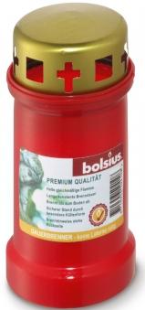Bolsius Grablicht / Dauerbrenner Nr. 3 rot mit Deckel Bild 1
