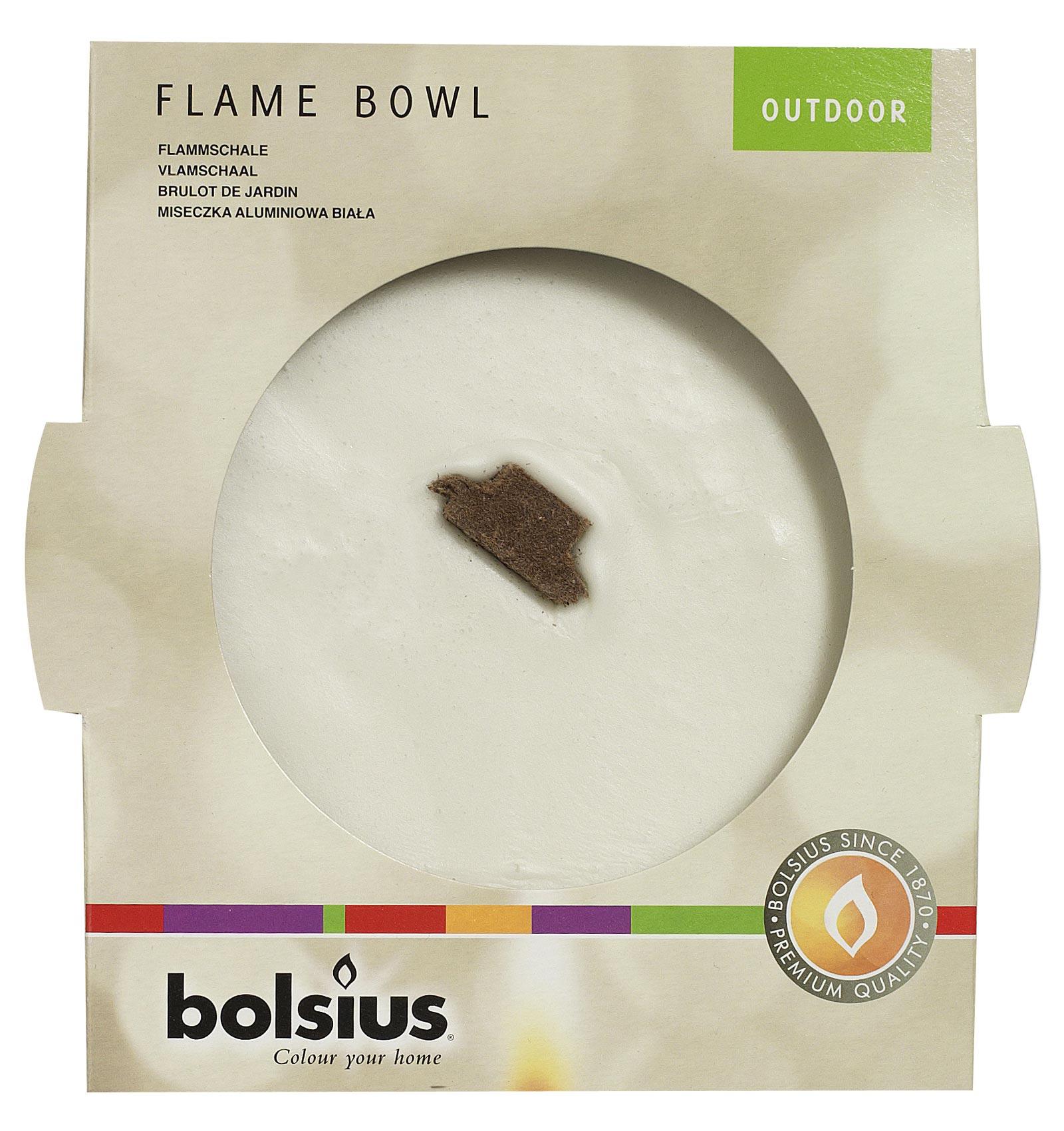 Bolsius Grablicht / Flammschale Alu weiß Ø 160 mm Bild 1