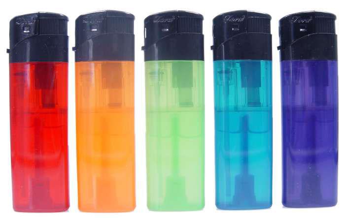 Feuerzeug / Elektronik-Feuerzeug nachfüllbar farbig sortiert 1 Stück Bild 2