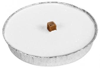 Grablicht / Flammschale Alu weiß Ø160 mm Bild 1