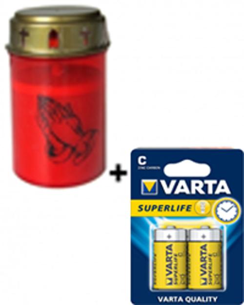 LED Grablicht rot inkl. Batterie Bild 1