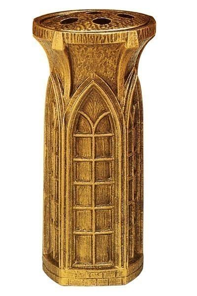 Grabvase Gideon bronzefarbig 26 cm Bild 1