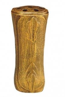 Grabvase bronzefarbig 25 cm Bild 1