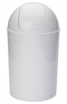 Abfallbehälter / Abfalleimer mit Schwingdeckel 25 Liter weiß Bild 1