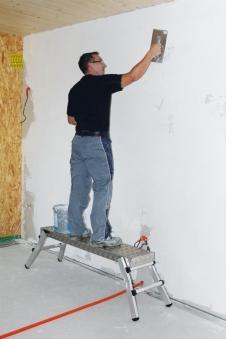 Arbeitsdiele Alu mit Klappfüßen 130x29cm Bild 1