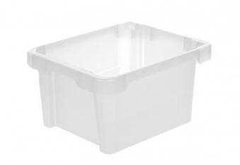 Drehstapelbox stapelbar 43x35x23cm transparent