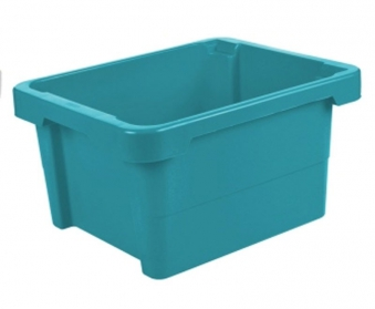 Drehstapelbox stapelbar 43x35x23cm bay blue Bild 1