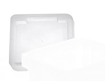 Deckel zu Drehstapelbox stapelbar transparent