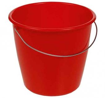 Eimer / Putzeimer mit Stahlbügel Keeeper 5 Liter rot Bild 1