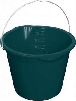 Eimer mit Tülle, 12 Liter schwarz Bild 1