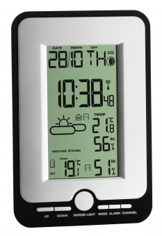 Funk-Wetterstation Multy mit Thermo-Hygro-Sensor und Uhr Bild 1