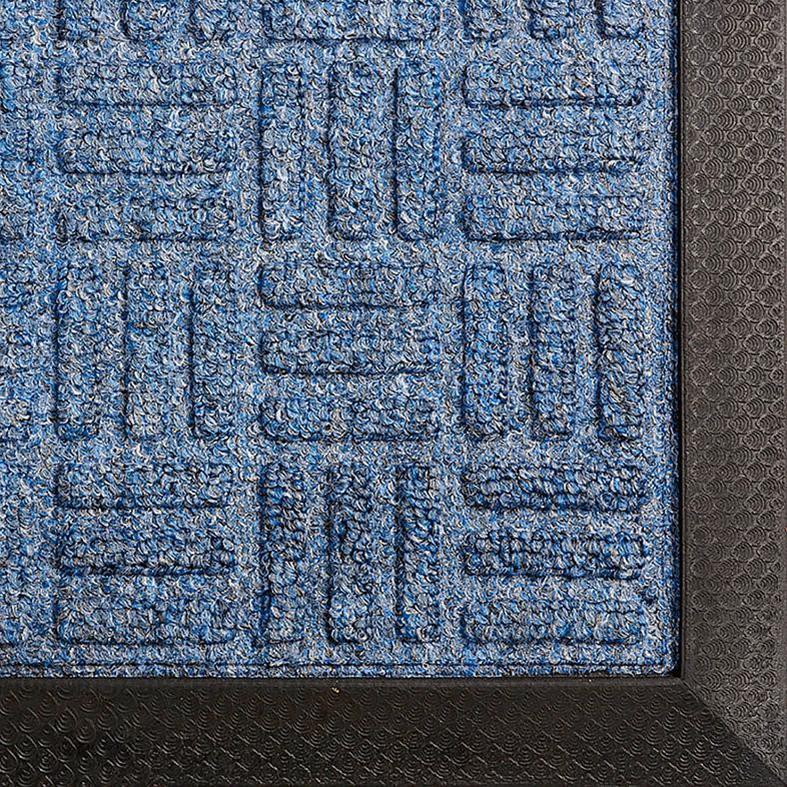 Gummi Eingangsmatte 8mm Turtle 1500x900mm blau Bild 1