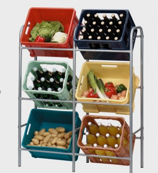 Kastenständer / Getränkekisten / Flaschenkastenregal für 6 Kästen Bild 2