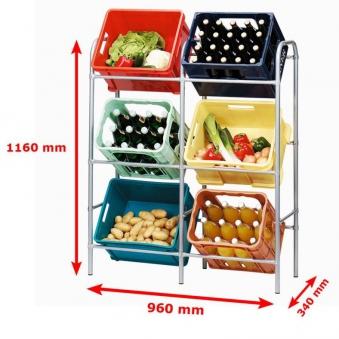 Kastenständer / Getränkekisten / Flaschenkastenregal für 6 Kästen Bild 3